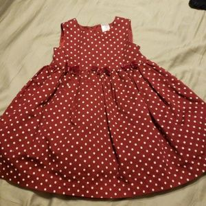 Carters infant girls polka dot dress